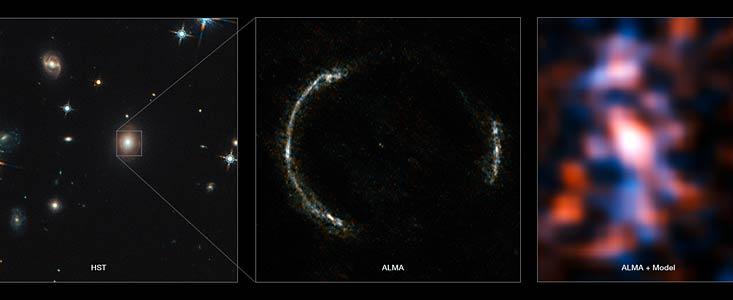 Команде телескопа ALMA удалось получить детальное изображение далекой галактики - 1