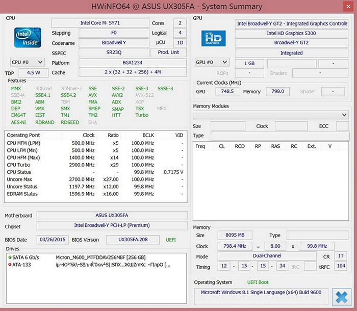 Обзор ультрабука ASUS UX305F - 8