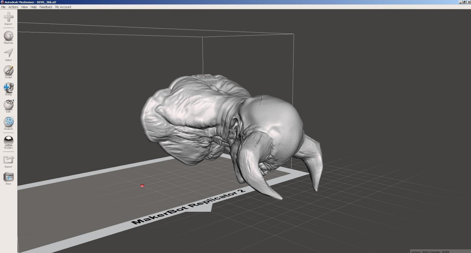 Обзор функции генерации поддержек в Autodesk Meshmixer - 2