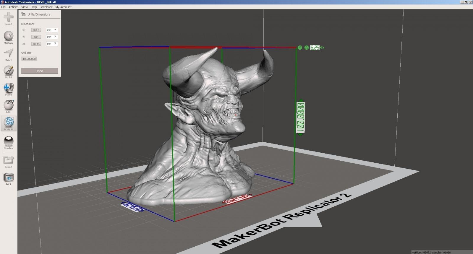 Обзор функции генерации поддержек в Autodesk Meshmixer - 8