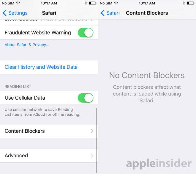 Мобильный браузер Safari научился блокировать рекламу - 1