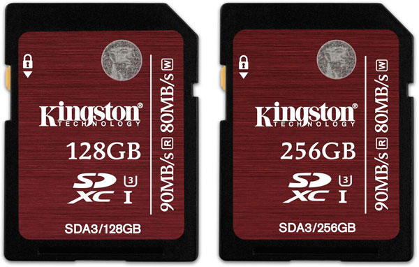 Объем карт памяти Kingston SDA3 увеличен до 256 ГБ