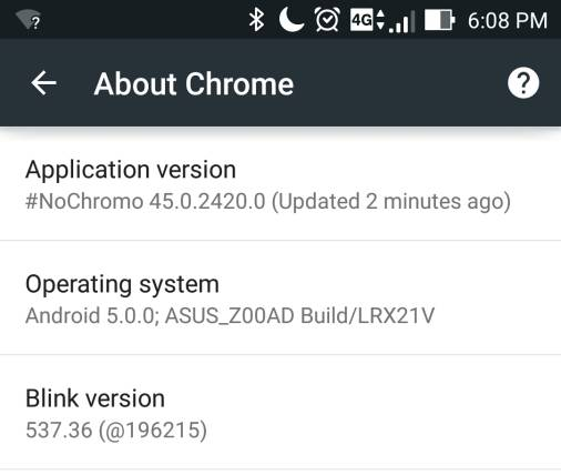 Google открыл исходный код Chrome для Android, NoChromo сделали браузер без рекламы - 1