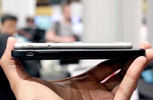 чехол заметно увеличит габариты вашего смартфона