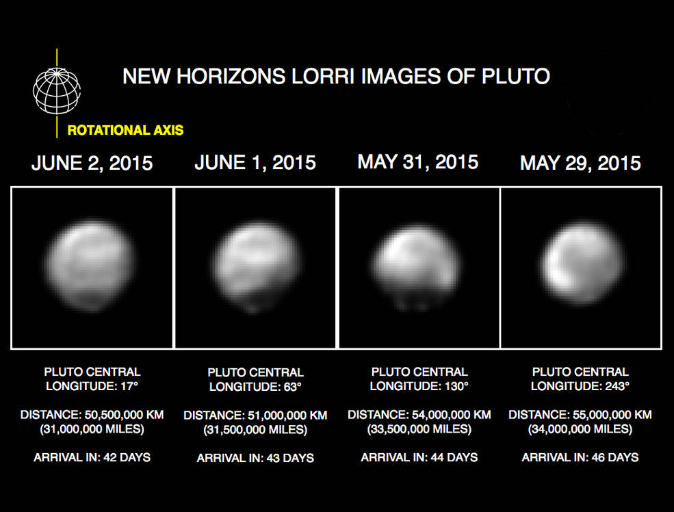 Новые изображения Плутона от станции New Horizons - 1