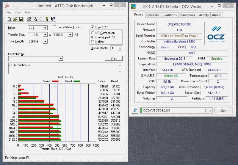 Тестирование твердотельного накопителя OCZ Vector 180 - 10