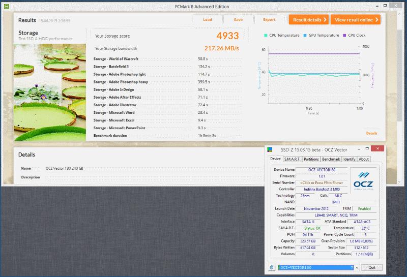Тестирование твердотельного накопителя OCZ Vector 180 - 12
