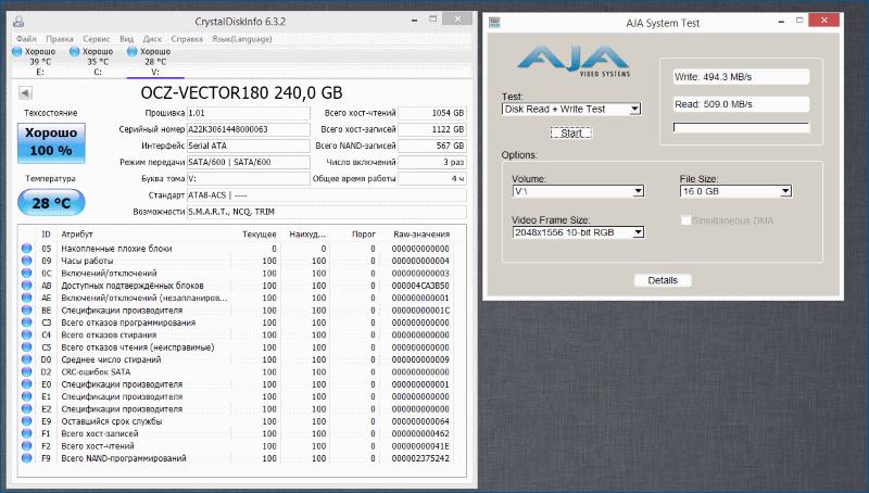 Тестирование твердотельного накопителя OCZ Vector 180 - 13