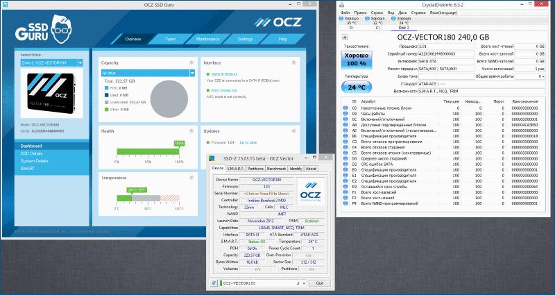 Тестирование твердотельного накопителя OCZ Vector 180 - 6