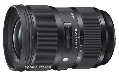 На объектив Sigma 24-35mm F2 DG HSM Art можно будет устанавливать фильтры диаметром 82 мм
