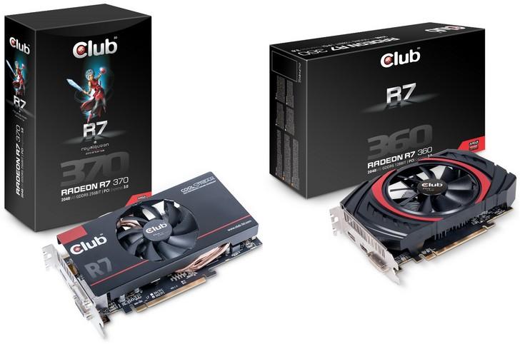 Club3D Radeon R7 300 и Radeon R9 300
