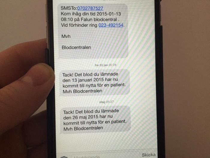Доноры в Швеции получают SMS, когда их кровь кому-то помогла - 2