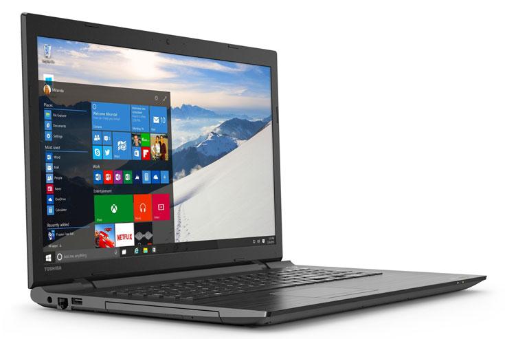 В серию ноутбуков Toshiba Satellite С вошли модели с экранами размером 15,6 и 17,3 дюйма
