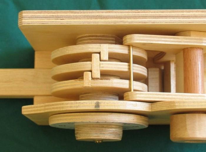 Деревянный кодовый замок - 4