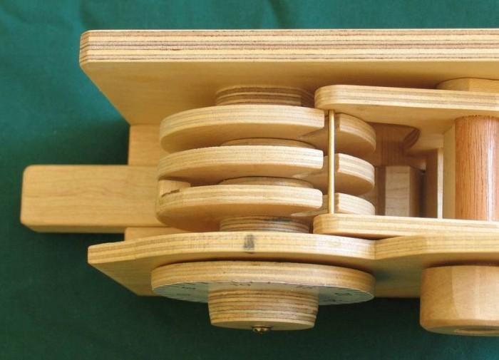 Деревянный кодовый замок - 5