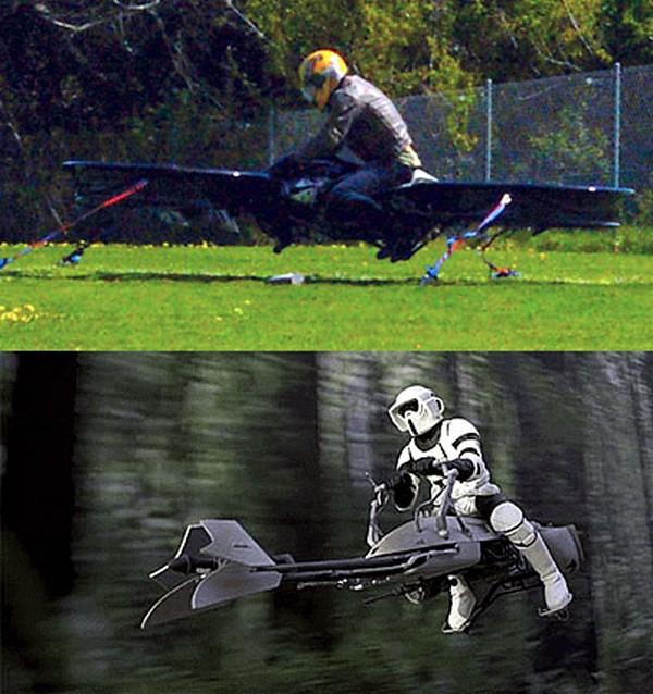 Летающий мотоцикл делают для армии США - 2