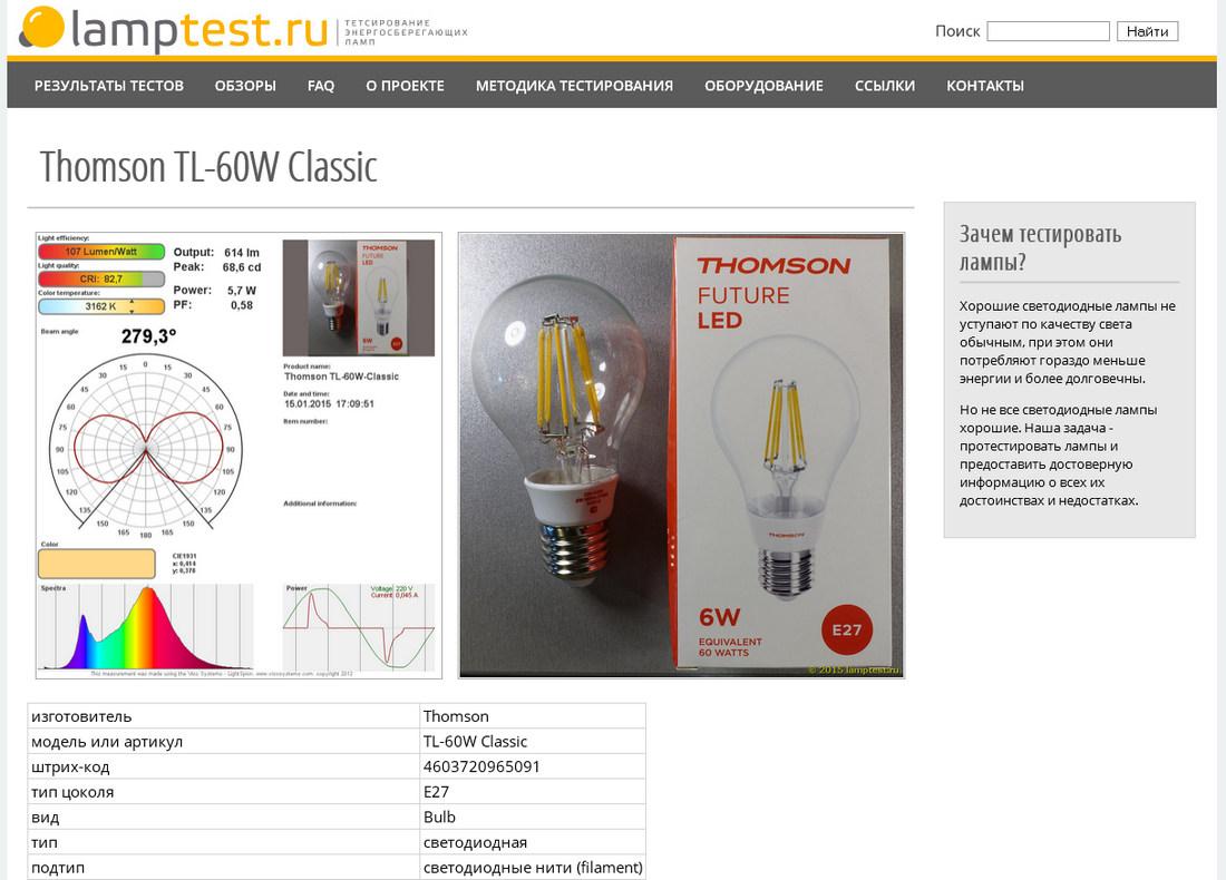 LampTest.ru — тестирование светодиодных ламп - 9