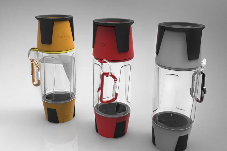 Hydra: бутылка, светильник, беспроводная акустическая система и мобильный аккумулятор в одном устройстве