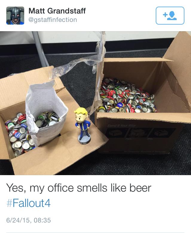 Поклонник Fallout получит от Bethesda игру Fallout 4 за свои крышечки от бутылок - 1