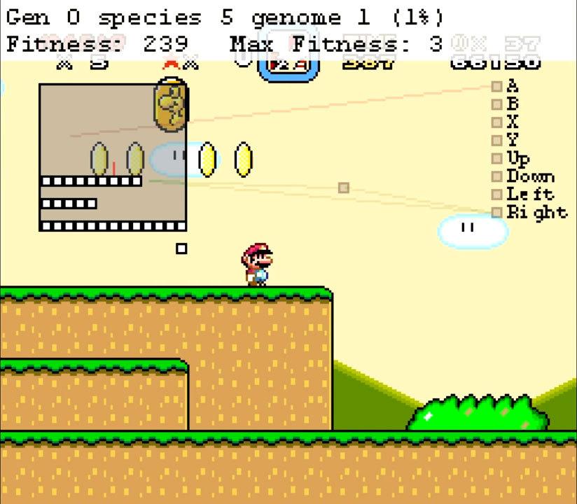 Нейроэволюционный алгоритм учится играть в Mario - 3