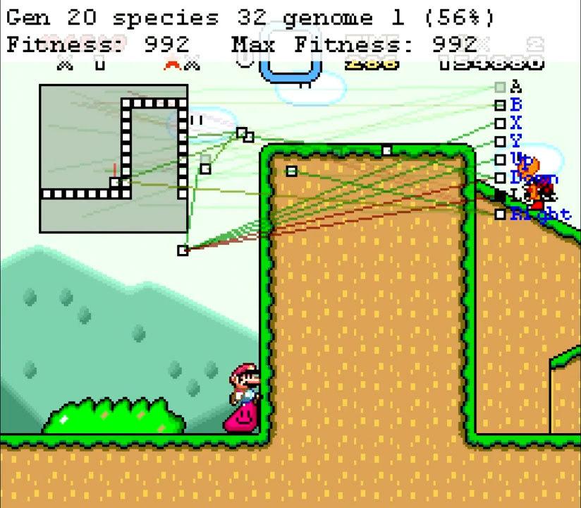 Нейроэволюционный алгоритм учится играть в Mario - 6