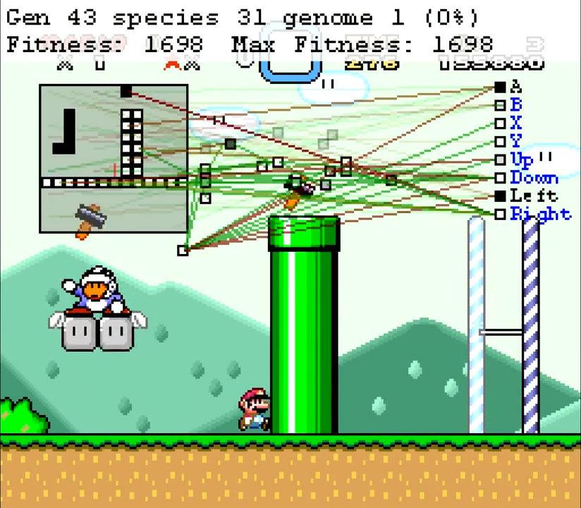 Нейроэволюционный алгоритм учится играть в Mario - 7