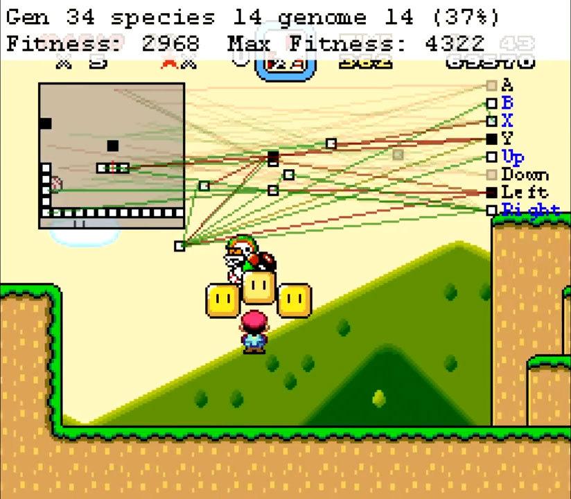 Нейроэволюционный алгоритм учится играть в Mario - 1