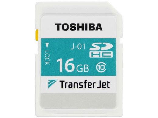 Карта памяти Toshiba TransferJet SDHC имеет маркировку Class 10