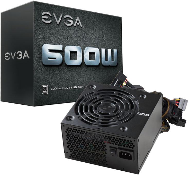 Блок питания EVGA 600W имеет сертификат 80 Plus