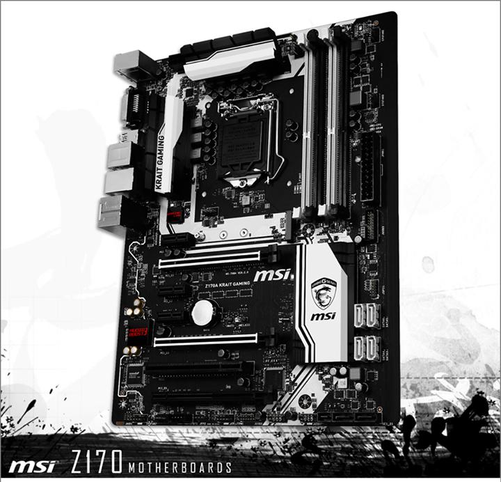 Плата MSI на чипсете Intel Z170
