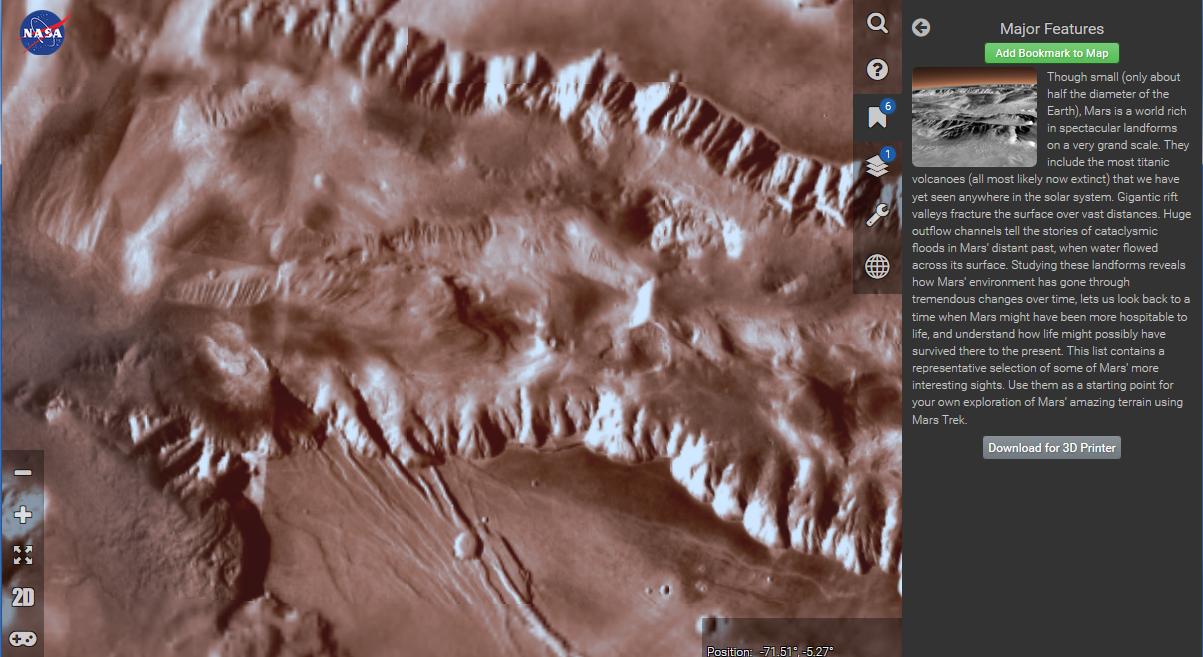 Новая карта Марса от NASA - 2
