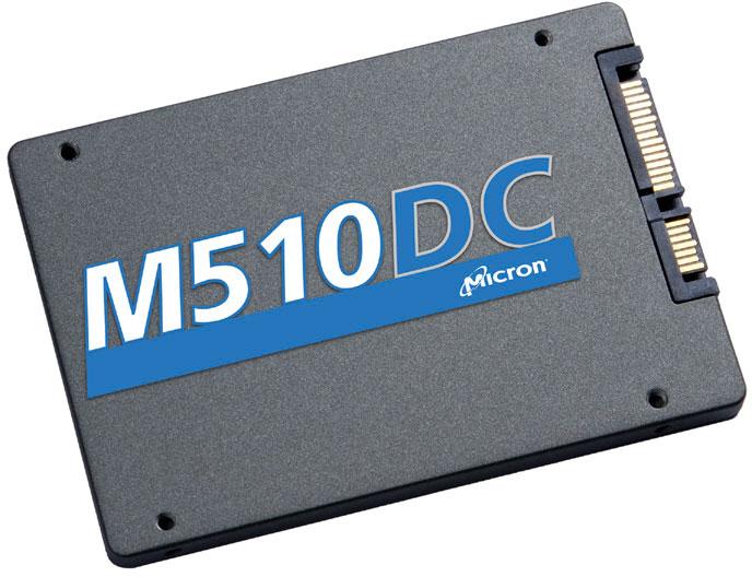 Твердотельный накопитель Micron M510DC оснащен интерфейсом SATA