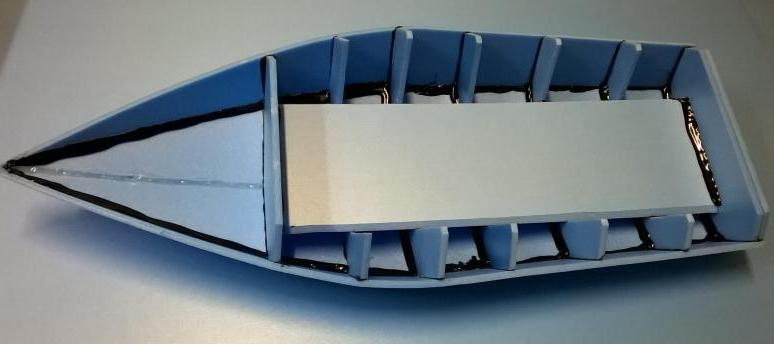 Радиоуправляемый катер на Arduino и радио модуле NRF24L01 из потолочной плитки - 13