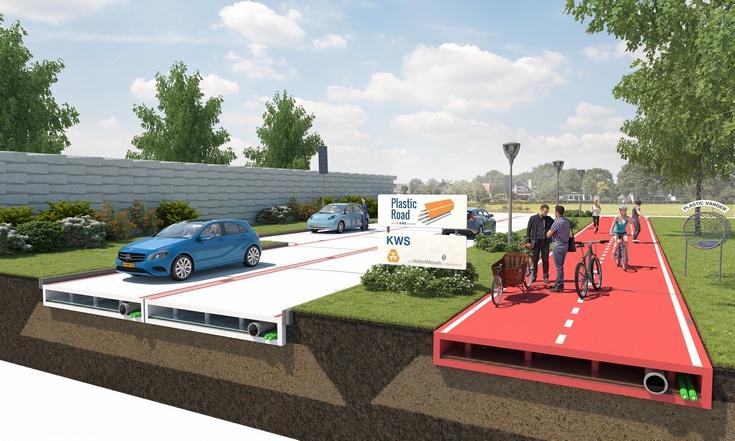 Нидерланды пластиковые дороги