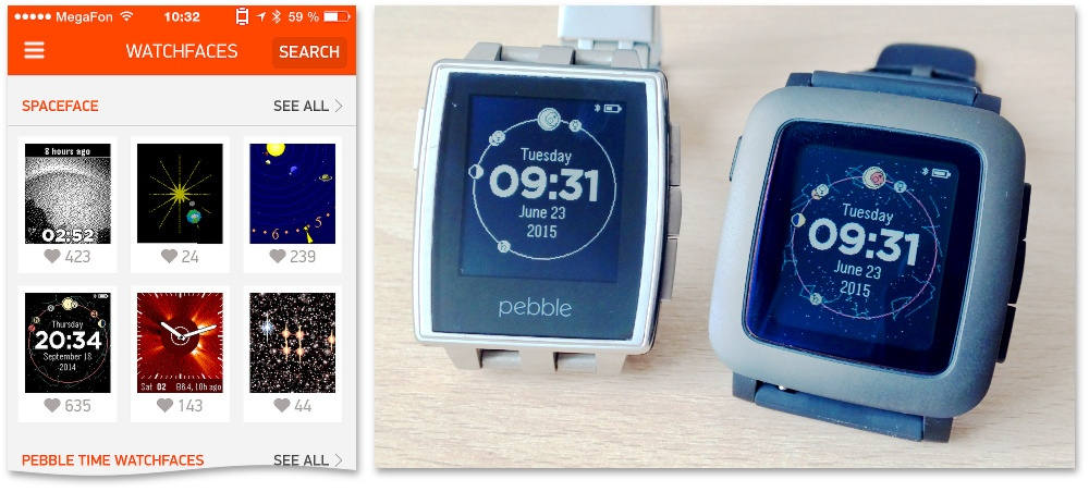«Спейсфейсы» для Pebble Time - 1