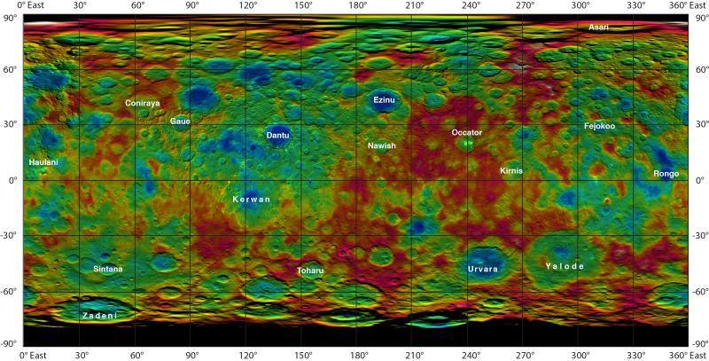 NASA опубликовало карту Цереры - 2