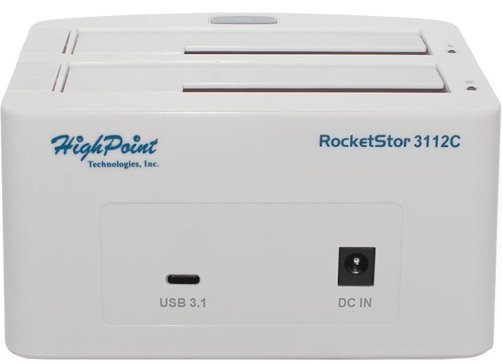 HighPoint реализовала поддержку USB 3.1 в док-станциях RocketStor 3112C и 3122B и карте RocketU 1322A - 2
