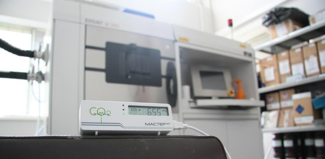 Тестирование СО2 детектора. Измерение когнитивной атмосферы в цеху 3d-принтеров, в космолагере, в коворкинге, в хакспейсе - 6