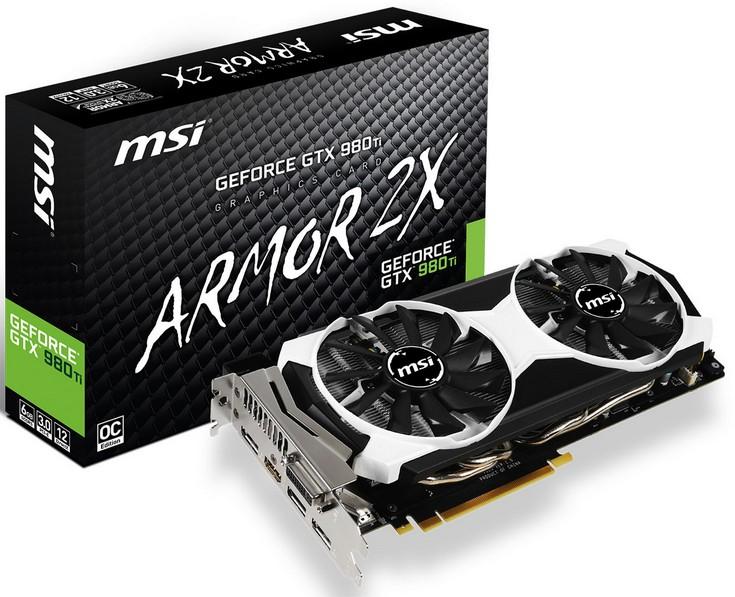 MSI представила видеокарту GTX 980 Ti ArmorX2