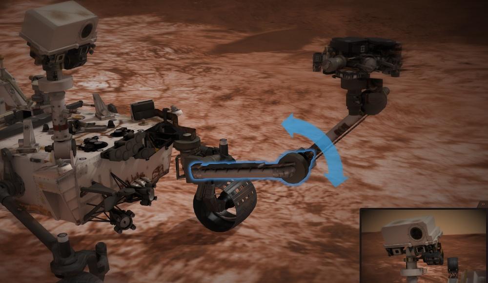Интернет в 3D: управляем марсоходом Curiosity на сайте NASA - 3
