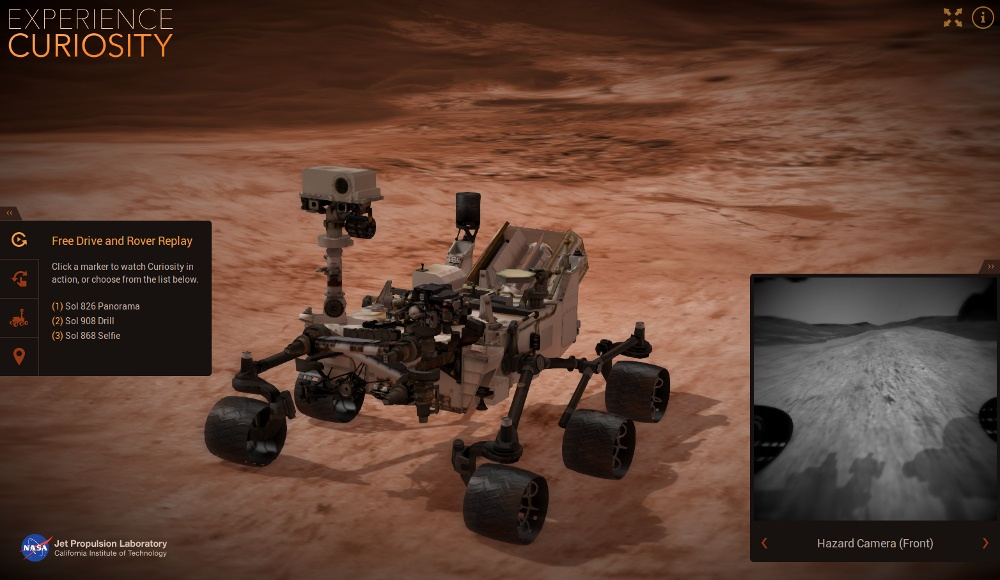 Интернет в 3D: управляем марсоходом Curiosity на сайте NASA - 1