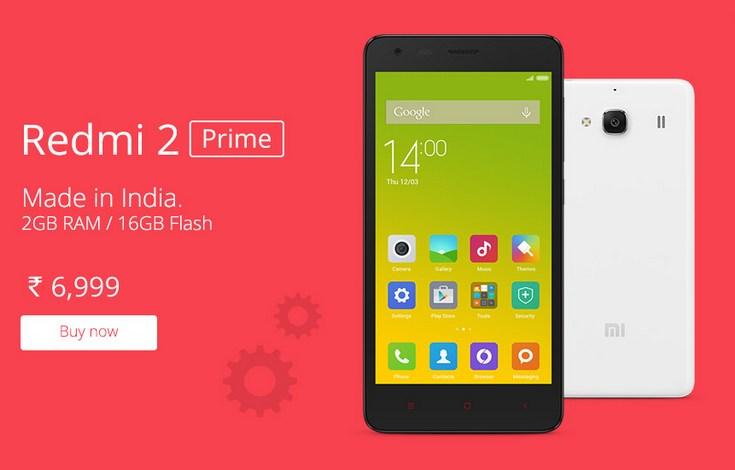 Смартфон Xiaomi Redmi 2 Prime с 2 ГБ ОЗУ оценивается в $110