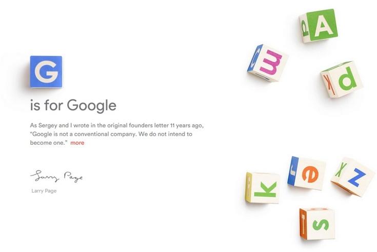 Основатели Google создали компанию Alphabet и сделали поискового гиганта её дочерним предприятием