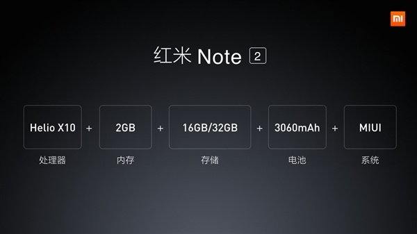 Xiaomi Redmi Note 2, спецификации