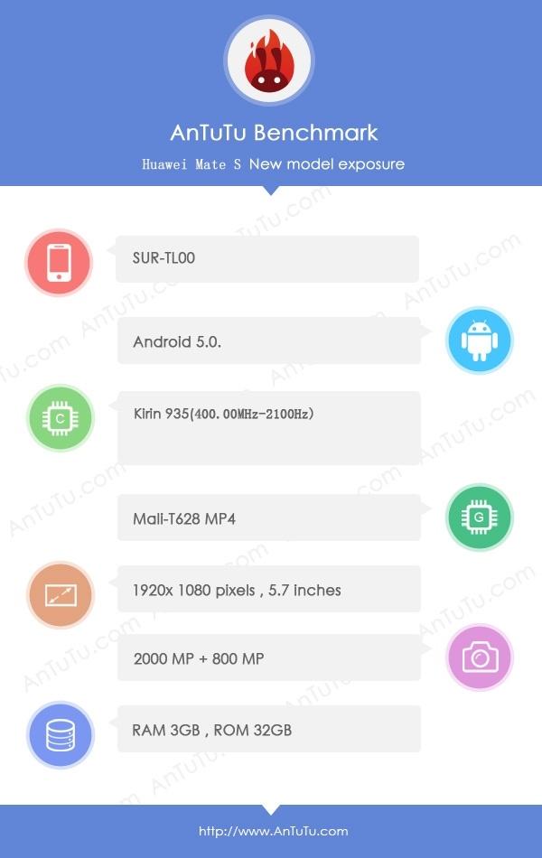 Новый большой смартфон Huawei засветился в базе данных бенчмарка AnTuTu