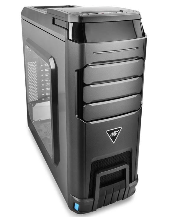 От исходной модели корпус DeepCool Landking V2 меньшим числом вентиляторов и увеличенным окном в боковой панели