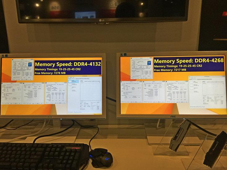 Для демонстрации возможностей модули DDR4-4266 были установлены системную плату ASRock Z170 OC Formula