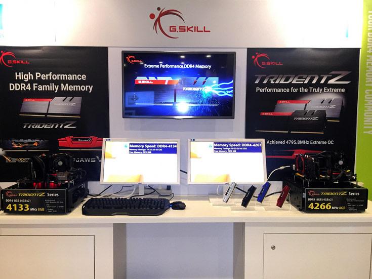G.Skill показала в работе наборы модулей памяти DDR4-4133 и DDR4-4266