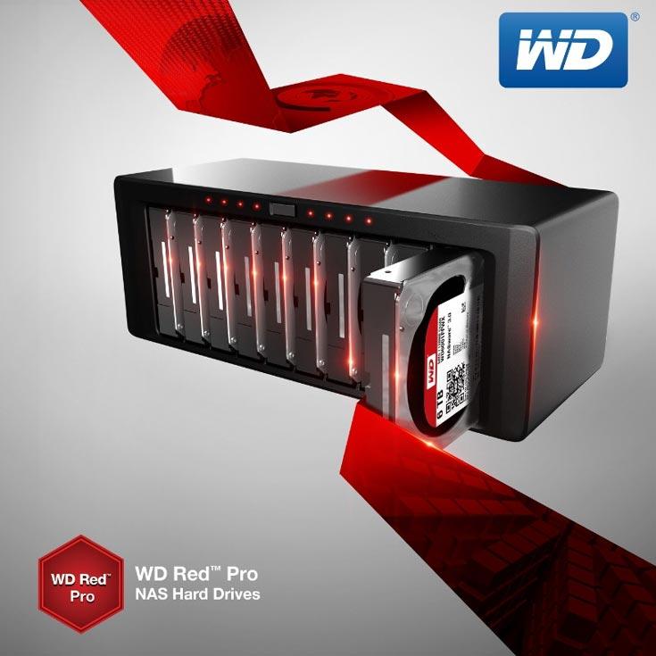 Продажи накопителей WD Red Pro объемом 5 ТБ (WD5001FFWX) и 6 TБ (WD6001FFWX) уже начались