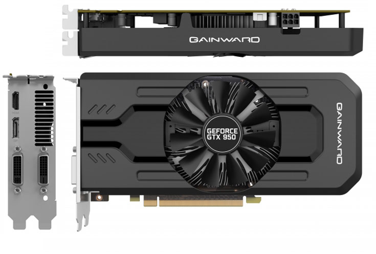 Представлена 3D-карта Gainward GeForce GTX 950